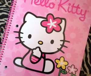 adorable, hello kitty, and note book image