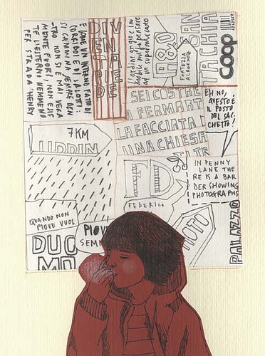 Collage, girl, and type image