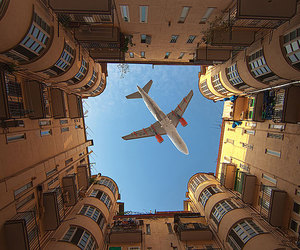 plane, airplane, and sky image
