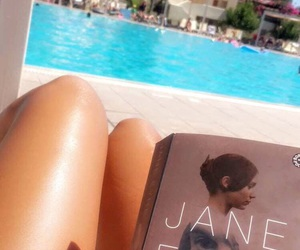 book, jane eyre, and pool image