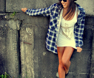 fashion, girl, and plaid image