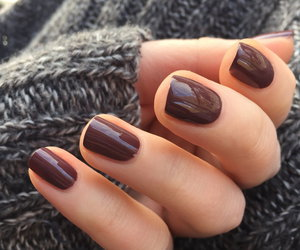 brown, pretty, and nails image