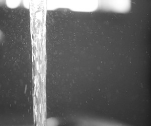 beautiful, water, and black and white image