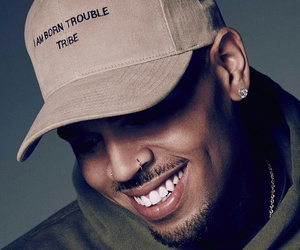 chris brown, smile, and breezy image