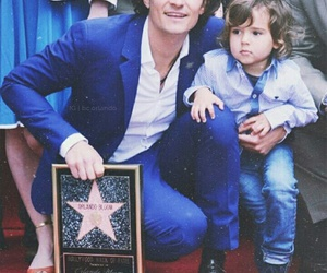 orlando bloom and father image