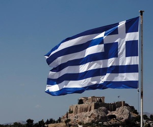 flag, traveling, and Greece image