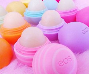 eos, pink, and make up image