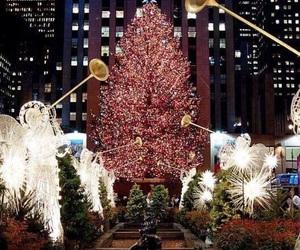 christmas, new york, and light image