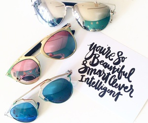 fashion, quote, and sunglasses image