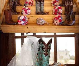 boots, country, and wedding image