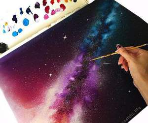 art, galaxy, and stars image