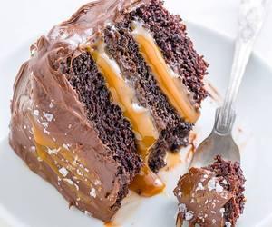 food, cake, and caramel image