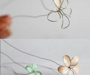 diy, flowers, and nail polish image