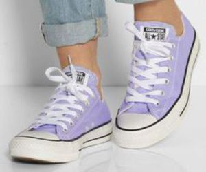converse, purple, and shoes image