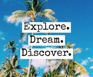 quote, discover, and Dream image