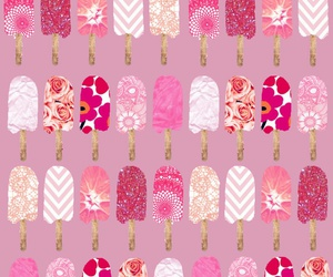 ice cream, patrones, and pink image