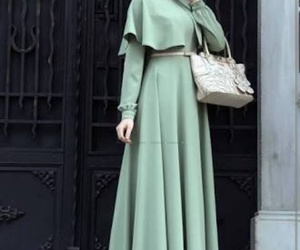 hijab, fashion, and dress image