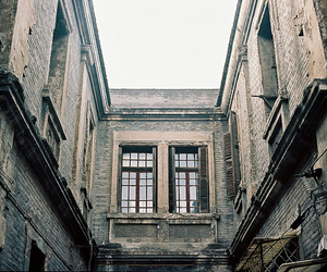 building, windows, and old image