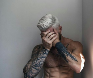 boy, Hot, and tatouages image