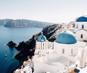 travel, Greece, and santorini image