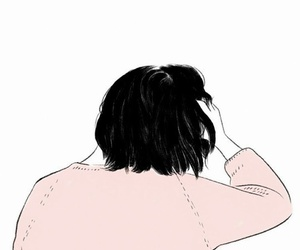 aesthetic, back, and short hair image