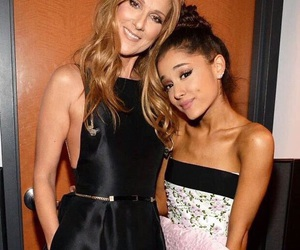 ariana grande and celine dion image