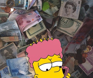 wallpaper, money, and simpsons image