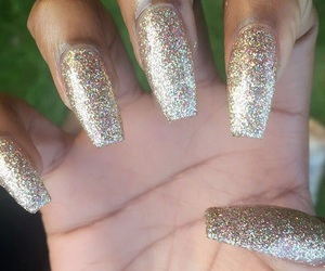 glitter nails, perfect nails, and photography inspiration image