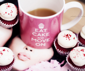cupcake, food, and cup image