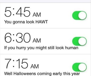 alarm, funny, and morning image