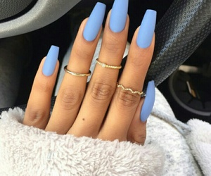 blue, nails, and white image