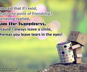 friendship, quotes, and happiness image