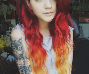 hair, red hair, and alternative image
