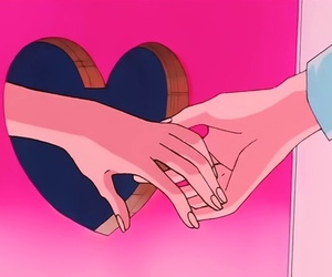 love, pink, and anime image