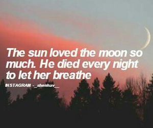breathe, moon, and quotes image