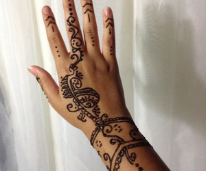 beauty, detailed, and henna love image