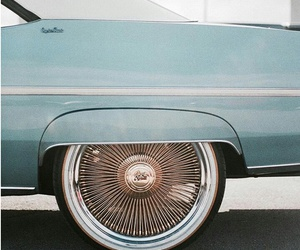 car, blue, and vintage image