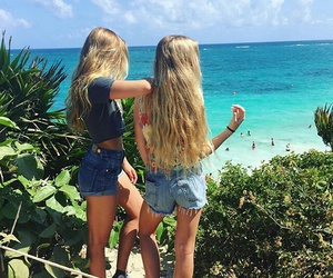 girls, style, and beach image