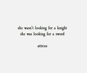 quotes, knight, and she image