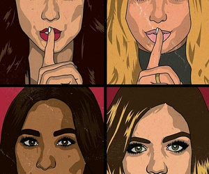 emily, pretty little liars, and hanna image