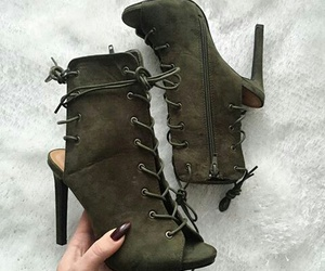 heels, military, and olive green image