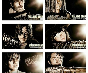 the walking dead, carl grimes, and rick grimes image