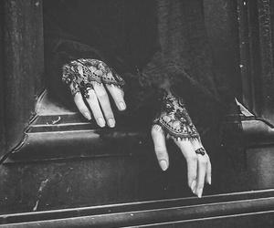black, dark, and hands image