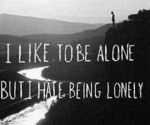 alone, lonely, and quotes image