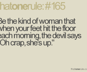 woman, Devil, and quote image