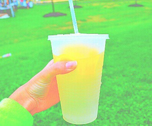 lemonade, drink, and lemon image