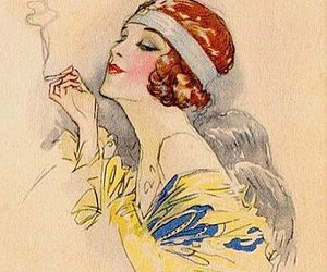 1920s, vintage, and art image