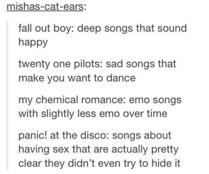 music, my chemical romance, and twenty one pilots image