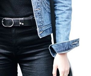 belt, denim, and fashion image