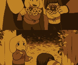boy, chara, and undertale image